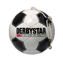 Derbystar - Swing Heavy Ballon de football avec corde Blanc/noir, Taille 5