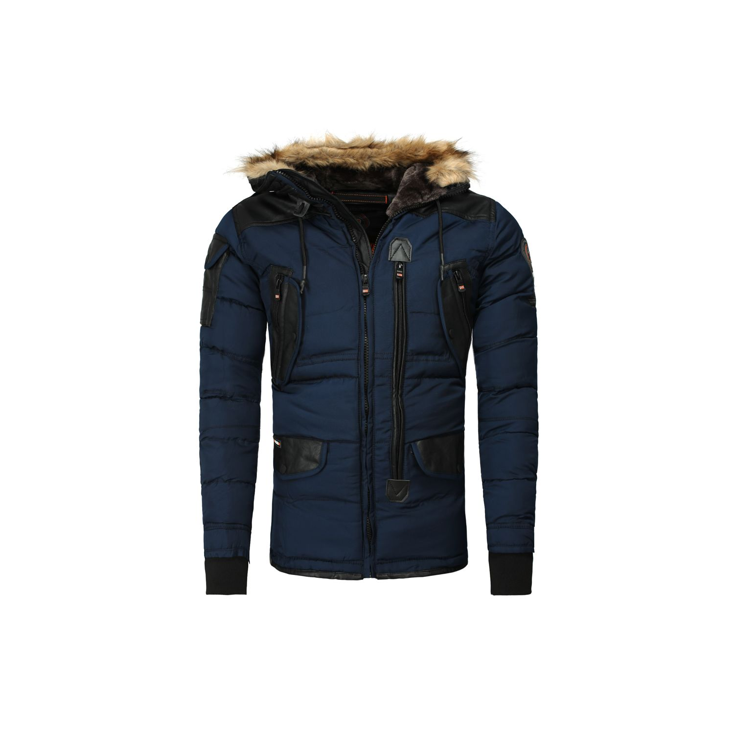 GEOGRAPHICAL NORWAY- Parka hiver Parka Buckle bleu marine