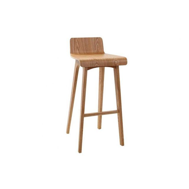 Latest tabouret chaise de bar design bois naturel - Tabouret de bar prune ...