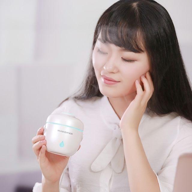 Wewoo humidificateur d 39 air blanc pour la maison et le bureau cuiseur de riz forme mini led - Humidificateur de bureau ...