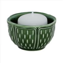 Gien - Photophore Vert Olive - Bougies parfumées et photophores Pont-aux-Choux