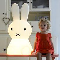 Mr Maria - Miffy Xl - Lampe de sol lapin Blanc H80cm - Guirlande et objet lumineux designé par