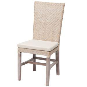 Rotin design chaise en rotin tress ellen blanche for Chaise blanche rotin