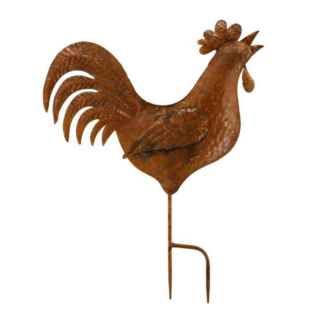 AUBRY GASPARD Coq en métal rouillé
