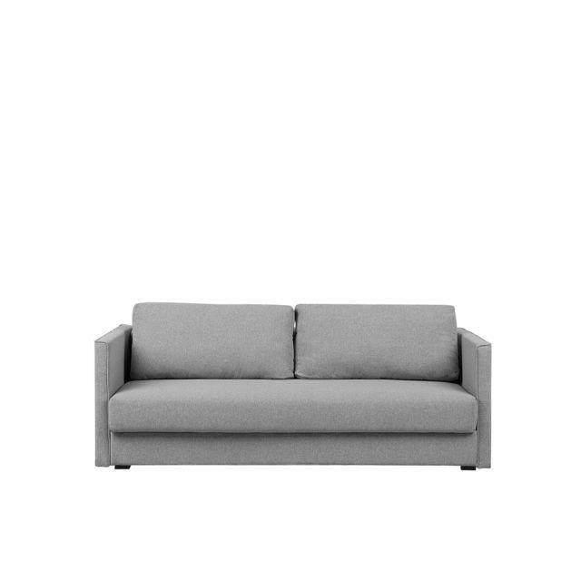 BELIANI Canapé en tissu gris clair EKSJO - gris clair