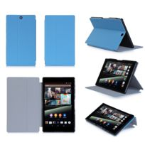 Xeptio - Housse Cuir Style luxe Ultra Slim tablette Sony Xperia Z3 Tablet Compact Sgp611 / Sgp621 bleu - Etui coque