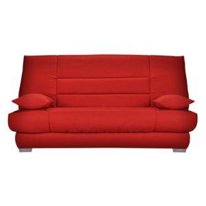 soldes tousmesmeubles banquette lit clic clac matelas hr 130 cm speed soupir n 1 rouge. Black Bedroom Furniture Sets. Home Design Ideas