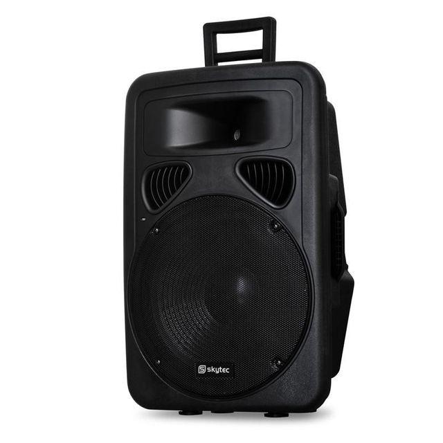 SKYTEC Enceinte Sono Passive DJ PA Subwoofer 38cm 600W Trolley