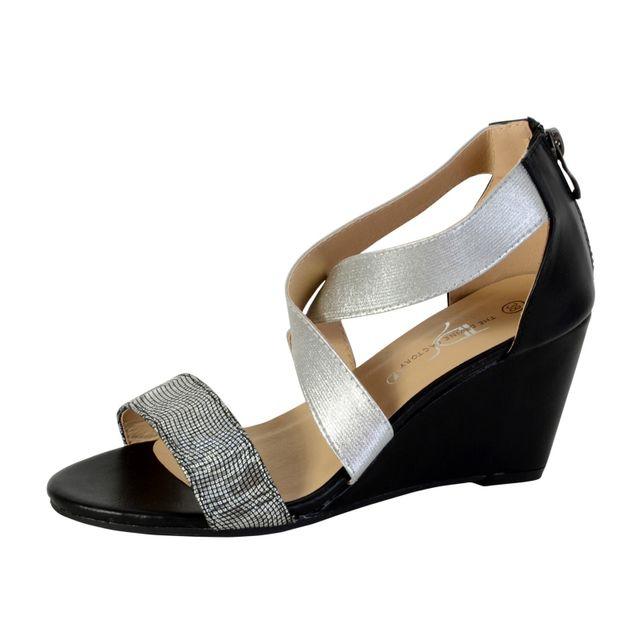 Argent Divine Factory Cher Pas Compensée Sandale The Tdf2928 5qc3LS4ARj