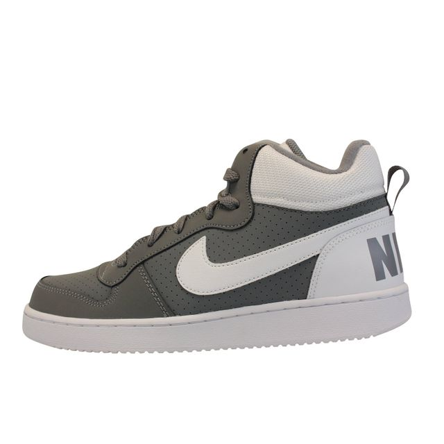 Nike Court  Borough Mid Gs Gris Pas Cher Achat  Court  Vente Baskets 87391c