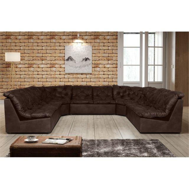 Rocambolesk Canapé Clac Lux 2A2A2 Tobago 14 brun sofa divan