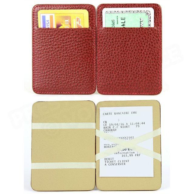 Volumica - Porte Carte Magique cuir Rouge-bordeaux Beaubourg - pas cher  Achat   Vente Porte-cartes - RueDuCommerce 3adc9478aa2