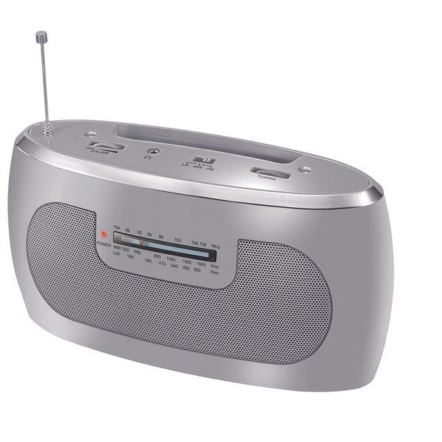 Carrefour Radio Portable Bpr50 Gris Pas Cher Achat
