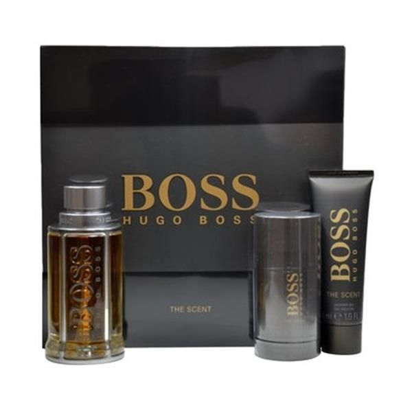 hugo boss - boss parfum edt 100ml + 75ml + deo stock sg50ml - pas