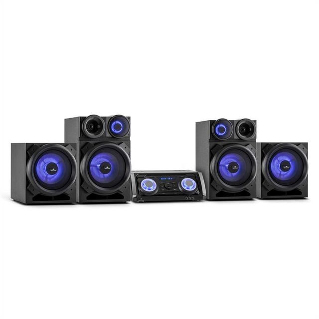 MALONE Mega Party Sound Système Audio 720W Bluetooth DVD HDMI AV FM USB AUX