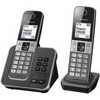 PANASONIC - Téléphone fixe sans fil avec répondeur - TGD322FRG - Duo