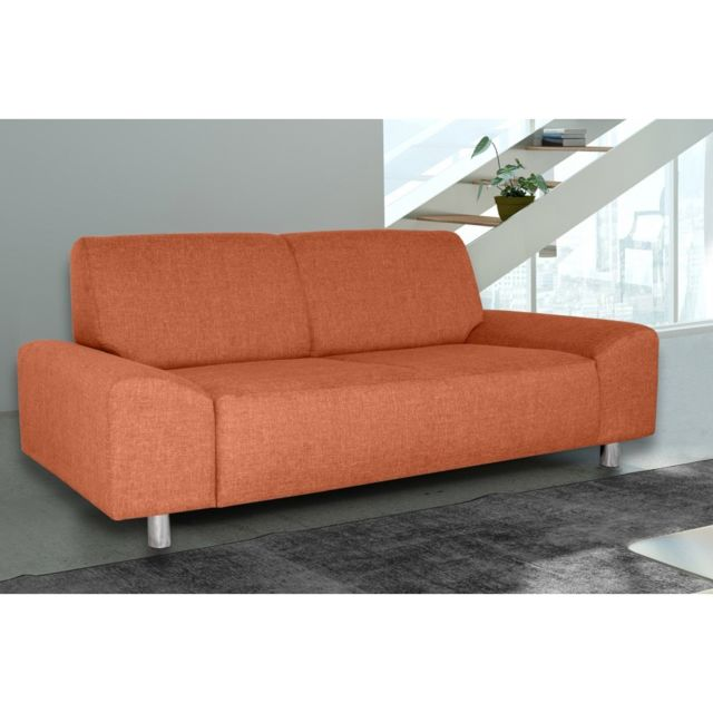 Rocambolesk Canapé Quick 3 savana 18 orange+pieds chrom sofa divan
