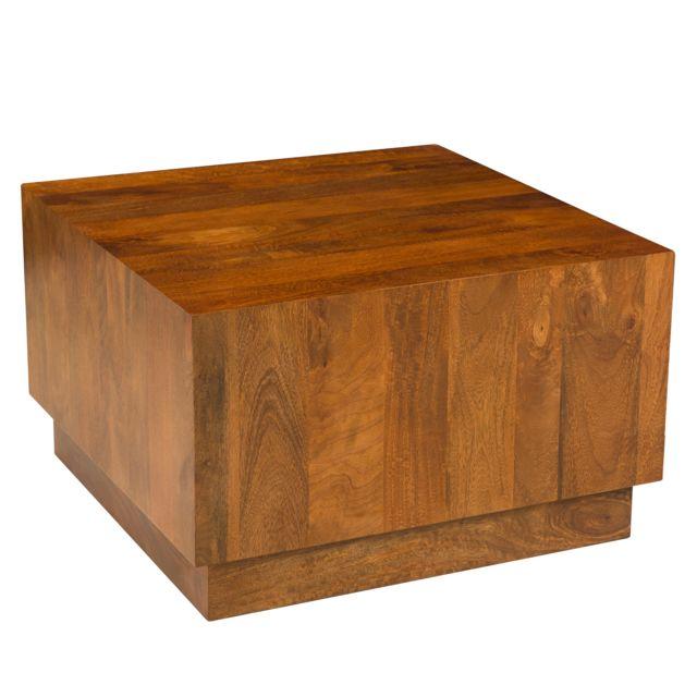 Rendez Vous Deco Table basse Rajam en bois naturel