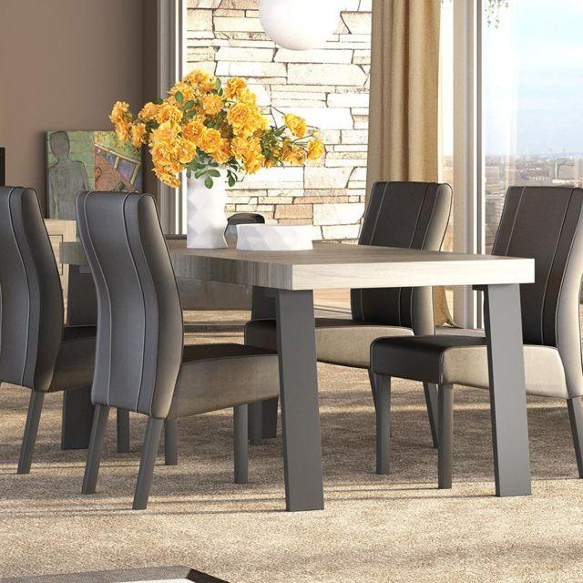 Kasalinea Table à manger moderne Melissa - L 165 cm