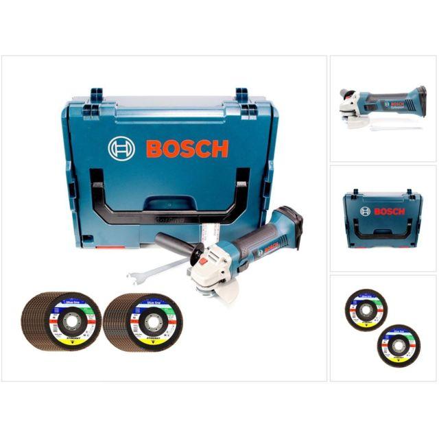 Bosch - Gws 18-125 V-li 125 mm Professional Meuleuse angulaire sans fil  avec boîtier L-boxx + 20x Disques à lamelles Sia Stingray - sans Batterie,  ... 48df374a100e
