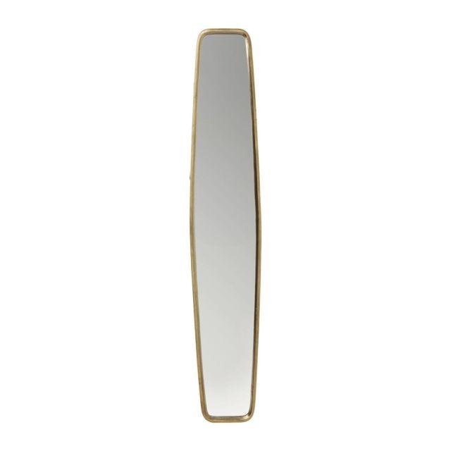 Karedesign Miroir Clip Brass 177x32cm Kare Design