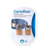 CARREFOUR - Lot de 2 cadenas à clé - 9171