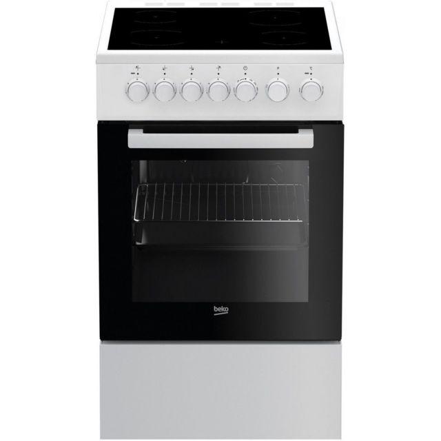 Beko Cuisinière Vitrocéramique Fss 57100 Gw - 4 Foyers - Electrique - 60 L - A