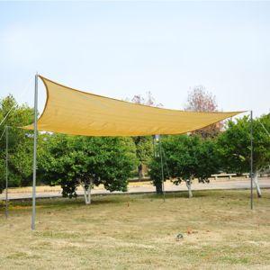 OUTSUNNY - Voile d\'ombrage rectangulaire 3 x 4 m polyéthylène haute ...