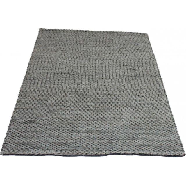 vivabita tapis gris clair en laine pour salon auckland 160 230 pas cher achat vente tapis rueducommerce - Tapis Gris Clair Salon