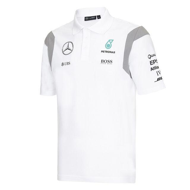 Achat Pas Amg Blanc Homme Cher Polo Team Mercedes Vente Pour XPwkiuZlOT