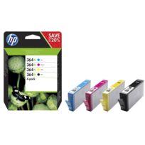 HP - CB338EE - Pack de 4 Cartouches d'encre 364XL 4 couleurs