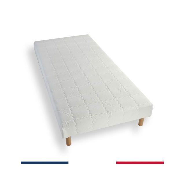 atelier de morphee sommier tapissier 70x190 lattes bois massif blanc 70cm x 190cm pas cher. Black Bedroom Furniture Sets. Home Design Ideas
