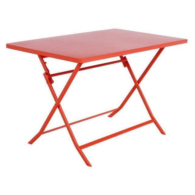 Hespéride Table rectangulaire Greensboro 110x70cm potiron