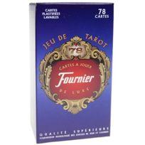 Fournier - Tarot : 78 cartes à jouer Luxe plastifiées Lavables Dos Bleu