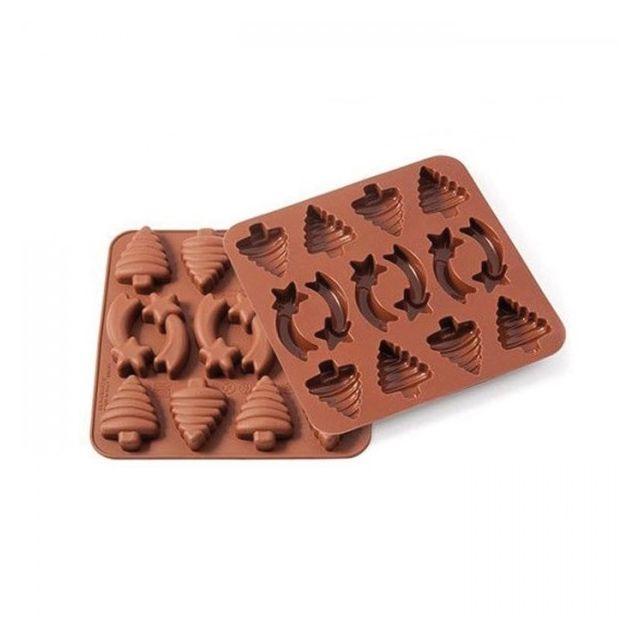 Silikomart Moule en silicone - chocolats de Noël