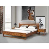 Beliani - Lit design en bois - lit double 180x200 cm - Giulia