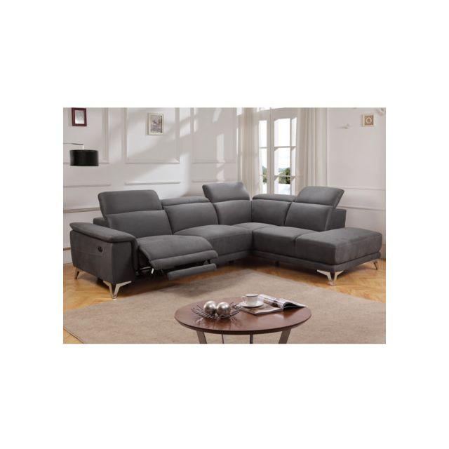 rencontrer 34ab0 9adb8 MARQUE GENERIQUE - Canapé d'angle relax électrique en tissu ...