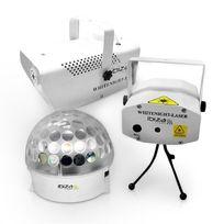 IBIZA - White Night Set d'effets de lumières laser,brouillard,LED
