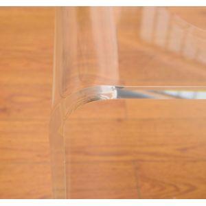 soldes homcom table basse verre acrylique transparent 52 pas cher achat vente meubles tv. Black Bedroom Furniture Sets. Home Design Ideas