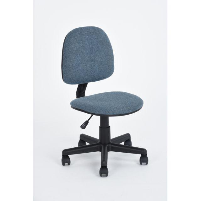 Carrefour Chaise De Bureau Hd Bleu Pas Cher Achat Vente