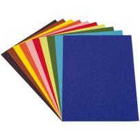 - papier dessin a grain 160g 50x65 couleur vive - paquet de 24