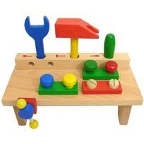 Detoa, jeux en bois - ÉTABLI En Bois Pour Les Enfants 25 Cm