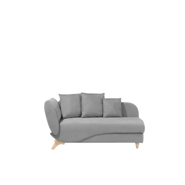 BELIANI Canapé gris clair côté gauche MERI - noir