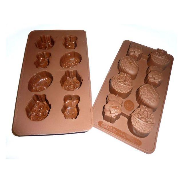 S.I.F Moule 8 chocolats de Pâques Silicone Chocolaflex
