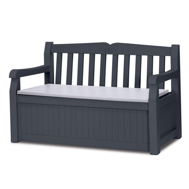 keter banc coffre 265 l gris anthracite pas cher achat. Black Bedroom Furniture Sets. Home Design Ideas