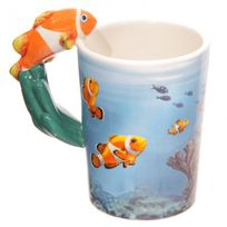 Sans Marque - Mug Poisson Clown Monde sous-marin par Lisa Parker
