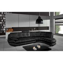 Chloe Design - Canapé d'angle Regal gris et blanc Angle gauche