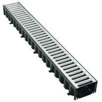 Interplast - Kit caniveau grille Inox 3 mètres
