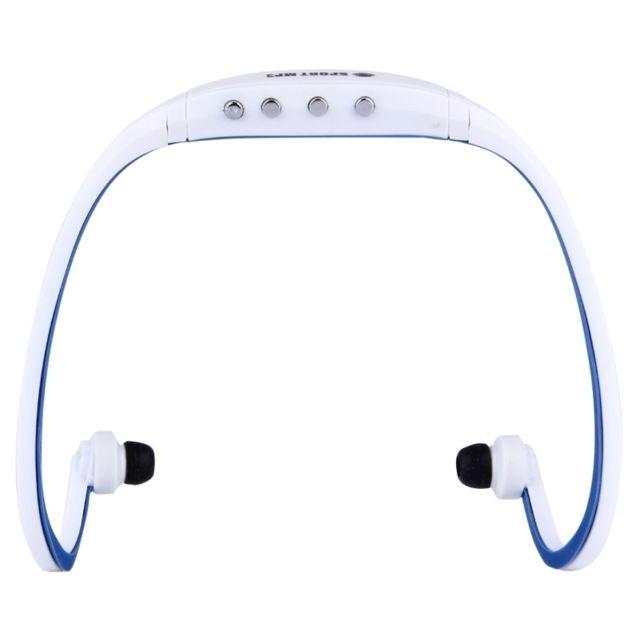 Wewoo Casque Bluetooth Sport Blanc Et Bleu Foncé Pour Les Smartphone