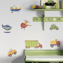 Jomoval - Roommates Stickers Muraux Repositionnables Enfant Transports